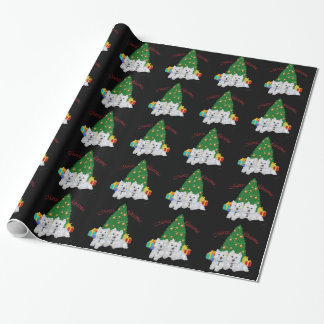 Westie Christmas Gift Wrap Paper