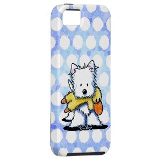 Westie con el juguete del pato iPhone 5 Case-Mate protector