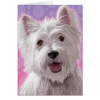Westie con una sonrisa tarjeta de felicitación