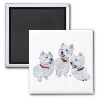 Westie Conference 2 Inch Square Magnet