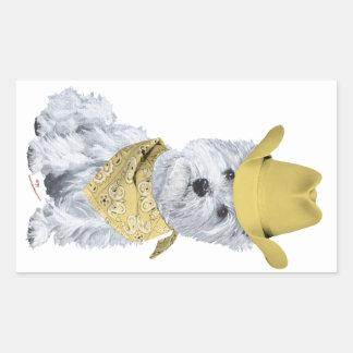 Westie Cowboy in Yellow Stickers