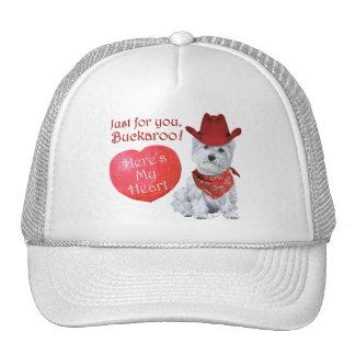 Westie Cowboy Valentine Hats