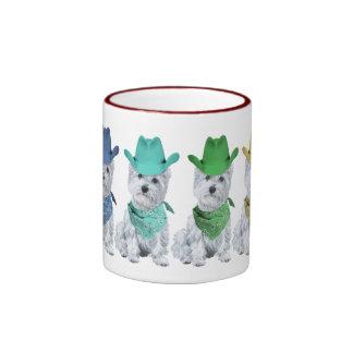 Westie Cowboys All in a Line Coffee Mug