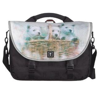 Westie Cuties Laptop Bags