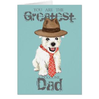 Westie Dad Card
