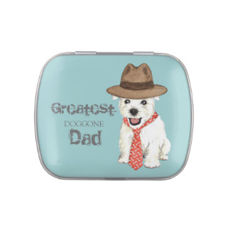 Westie Dad Jelly Belly Candy Tin