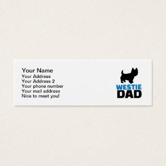Westie Dad Mini Business Card