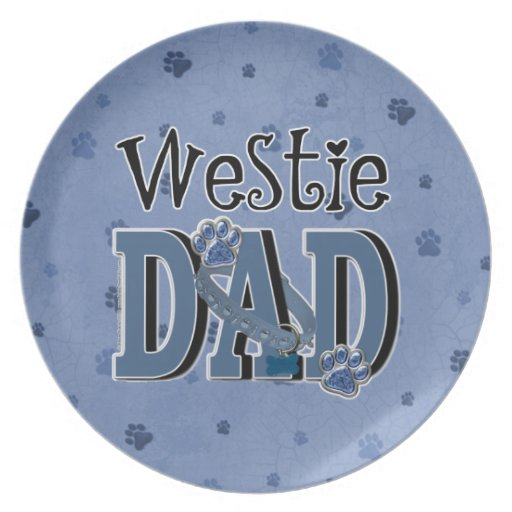 Westie DAD Party Plate