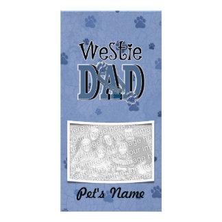 Westie DAD Photo Greeting Card