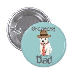 Westie Dad Pinback Button