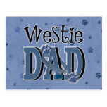 Westie DAD Post Card