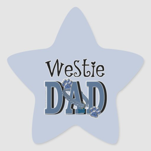 Westie DAD Sticker