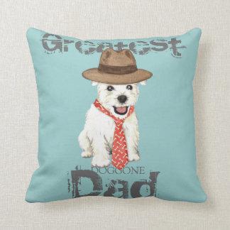 Westie Dad Throw Pillow