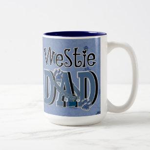Westie DAD Two-Tone Coffee Mug