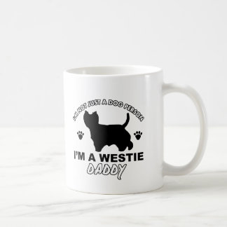 Westie daddy dog designs coffee mug