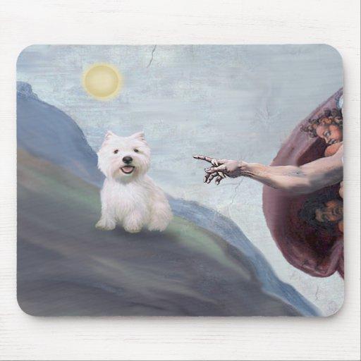 Westie de dios (#2) tapete de ratón