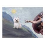 Westie de dios (#2) tarjetas postales