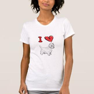 westie del corazón camisetas