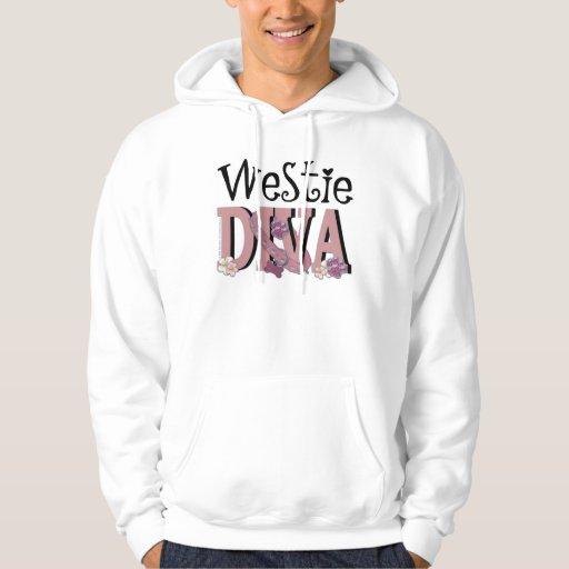 Westie DIVA Hooded Sweatshirts