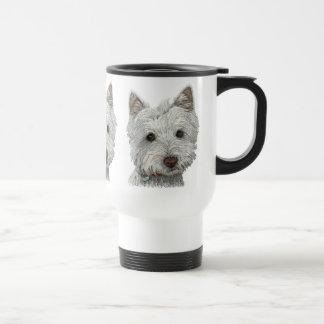 Westie dog 15 oz stainless steel travel mug