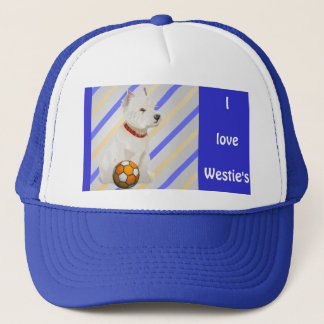 Westie Dog and Ball Art Gifts Trucker Hat