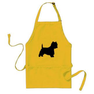 Westie Dog (black) Adult Apron