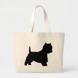 Westie Dog (black) Tote Bag