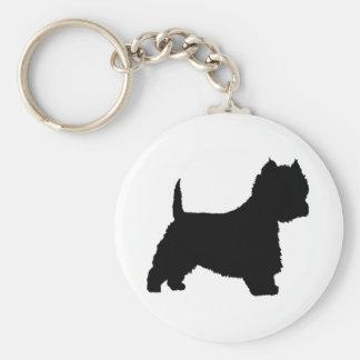 Westie Dog (black) Keychain