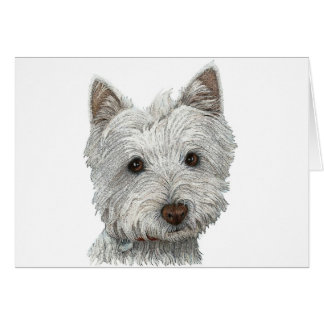Westie dog note card