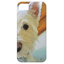 Westie Dog Face, Looking at You iPhone SE/5/5s Case