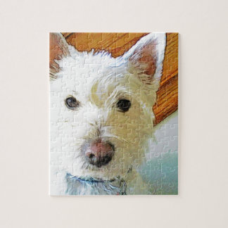 Westie Dog Face, Looking at You Jigsaw Puzzle