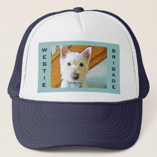 Westie Dog Face, Westie Brigade Trucker Hat