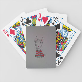 westie dog items bicycle playing cards