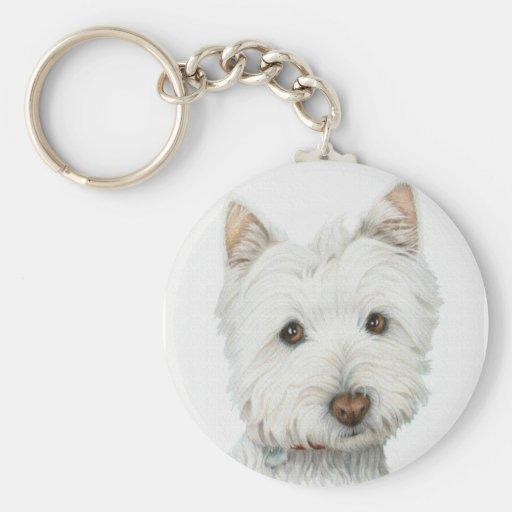 Westie Dog Key Chains