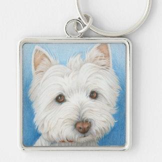 Westie Dog keychain