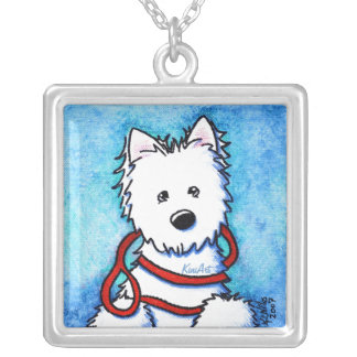Westie Dog Painting Necklace
