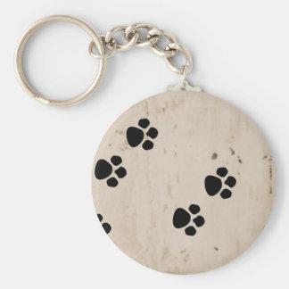 Westie Dog Paw Prints Keychain