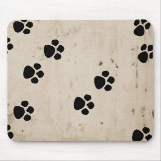 Westie Dog Paw Prints Mouse Pad
