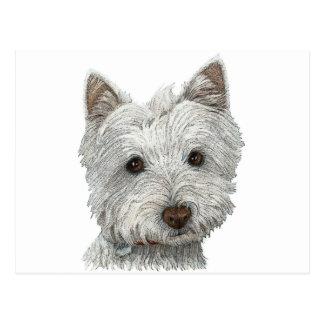 Westie dog post cards