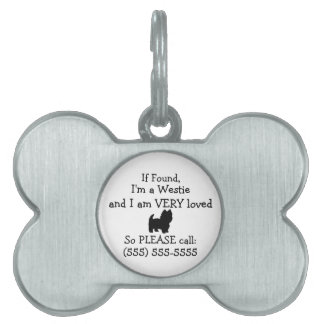 Westie Dog Safety Tag Return to Owner