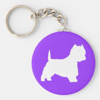Westie Dog (white) Keychains