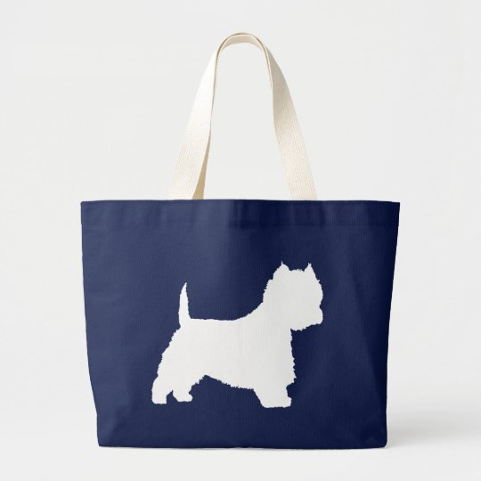Westie Dog (white) Large Tote Bag