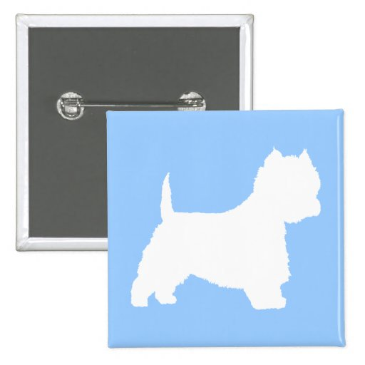 Westie Dog (white) Pinback Buttons
