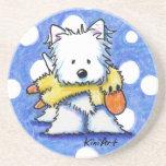 Westie Dog With Toy Coaster