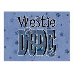 Westie DUDE Post Card