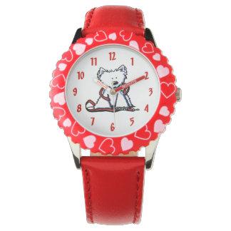 Westie el reloj del perro