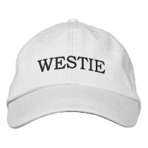 WESTIE EMBROIDERED BASEBALL CAP