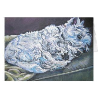 Westie en blanco del notecard de Terrier de la Tarjeta Pequeña