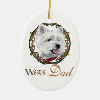 Westie Father's Day Ceramic Ornament