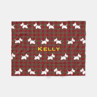 Westie Fleece Blanket